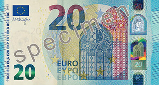 new 20 euro front