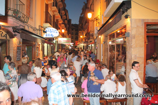 Busy tapas alley