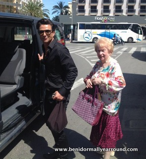 Actor Jake Canuso with Elsie Kelly during filming