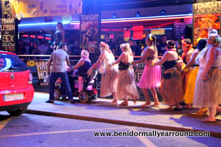 partying in benidorms english square