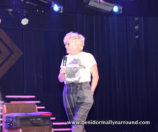 Crissy on stage at Benidorm Palace