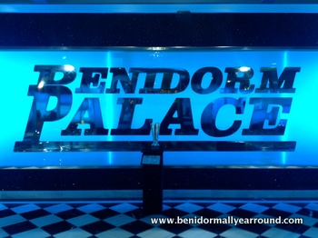 Benidorm Palce logo in foyer