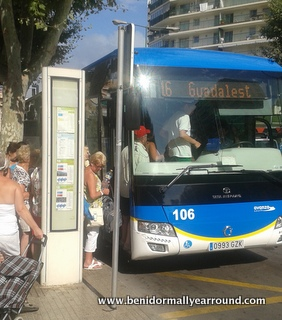 No 16 Llorente bus goes from Benidorm daily