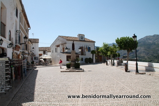 Main square in Guadalest
