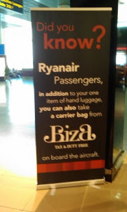 So as he was exiting the Biza Duty Free shop at Manchester he was rather suprised to be greeted by this sign ! Once back home I logged onto the Biza website ...