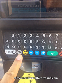 close up of keypad