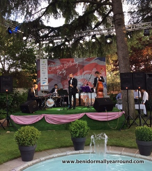 Live band at Ambassadors residence in Madrid