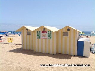 First Aid Hut on Levante beach