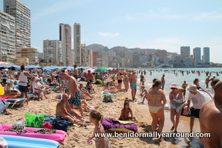 Plenty lying within the 6 metre boundary on Levante beach