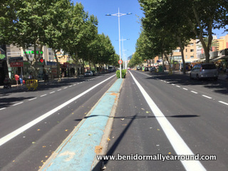 Bike Lane on Avd Mediterraneo